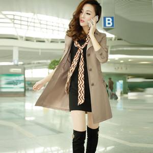 Boollili Khaki Slim Trench Coat Para As Mulheres Single Breasted Causal Long Coat Female Spring Windbreaker Women's