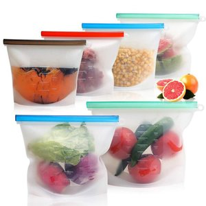 Food Grade Silikon Gıda Mühürlü Çanta 1000ml Kompakt Taşınabilir Depolama Çantası Mühürlü Karşıtı Dize Lezzet Şeffaf Silikon Gıda Torbası BH1755