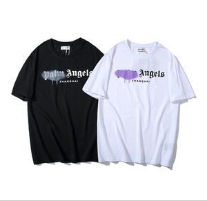 2020 ville Arc teexxl designer, XXS Palm ange Arc-En-urbain repères À Manches Courtes Mode Coton Femmes Couple Hommes T-Shirt