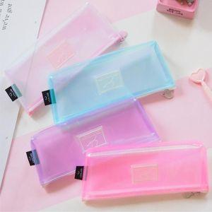 1Pcs Kawaii Пенал Цветное лето Gife Estuches Школа Pencil Box Bag Школьные принадлежности Канцелярские товары составляют
