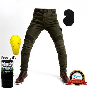 Motorcycle jeans 2018 new Army green UBS-06 jeans men protection equipment moto pants UBS-06 racing