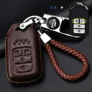 Dana deri Honda Civic City için Araba anahtarı Durumda XRV CRV URV Accord Odyssey Fit VEZEL CRIDER Metal Oto Anahtar parçaları kahve