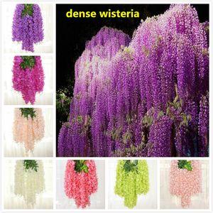 8 colori densi fiore di glicine fiore di seta artificiale di vite 110 centimetri elegante glicine vite rattan per il giardino decorazione di nozze a casa