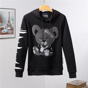 Primera marca con capucha de manga larga jersey de los hombres de la camiseta de la letra bordado del suéter del invierno nuevos hombres del diseñador de gran tamaño