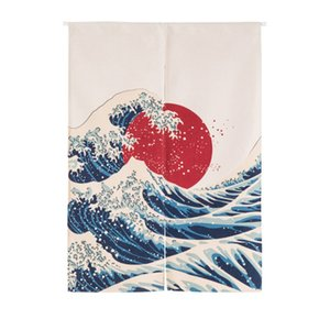 Japanese Cotton Linen Printed Decor Doorway Curtain Wall Hanging Tapestry Screens Room Dividers Decoration