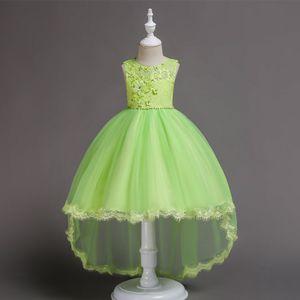 Pageant de fille assez violet bleu rose jaune vert robes de fille de fleur robes de soirée princesse enfant jupe sur mesure 2-14 H313250