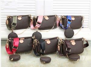 Les femmes préférées mini sac pochette 3 pièces accessoires sac à bandoulière sacs à bandoulière vintag m44823 sacs à main en cuir oxydantes sangles de couleurs multiples