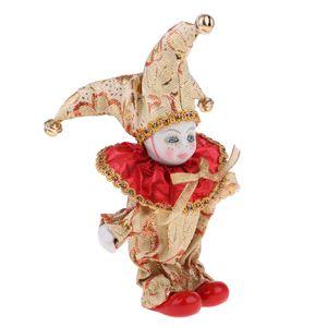16cm Romantik Porselen Bebek İtalyan Triangel Model Palyaço Bebek Sevgililer Ev Dekorasyonu Masa Süsler