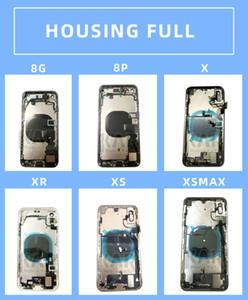 20pcs DHL pour l'iPhone 8 8G 8P 8Plus X XS XR XSMAX 11 Plein boîtier Assemblée couvercle de la batterie de porte arrière avec Flex buzzer par câble Mix Livraison gratuite