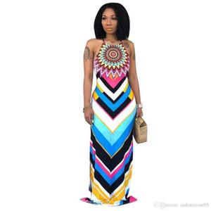 Печать скольжения платья выдалбливают спагетти ремень рукавов спинки платья Sexy Ladies Party Dress Women 3D Digital