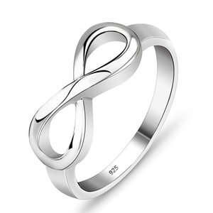 Il nuovo argento Infinity Anello Iscriviti anelli a fascia Donne gioielli di moda sposa GOCCIA regalo NAVE 080.288