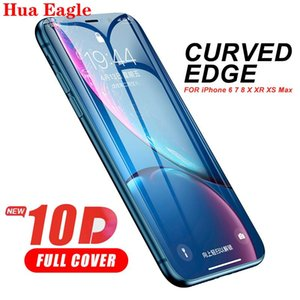 Hua Full Cover 10D Protective Glass for iphone 6 6s 7 8 Plus Tempered Glass on iPhone X XS MAX XR SE Screen Protector Curved Edge