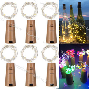 Cuerdas LED Tapón de botella Plata 1m 10led 2m 20led Fairy Strip Wire Aire Libre Decoración de fiesta Cork Cuerda EPACKET