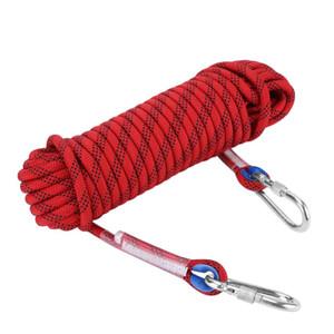 Resistente professionale Rope Climbing 10 / 12mm escursionismo arrampicata Panchute sopravvivenza del cavo di corda di sicurezza con moschettone Forza Cord