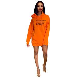 Womens Designer Polaire à capuche Robes Lettre Casual Mode Robes imprimé Vêtements pour femmes