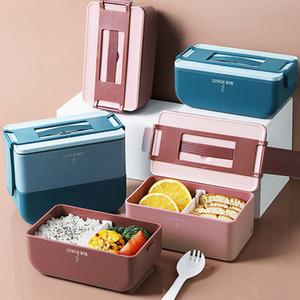 Plastik Bento Box Isıtmalı Mikrodalga Fırın Lunch Box Kaçak-Proof Bağımsız Kafes Bento Box Taşınabilir Gıda Konteyner