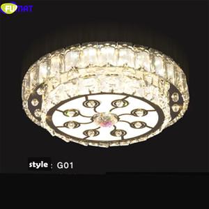 FUMAT moderna K9 de cristal de techo Lámparas de acero inoxidable, luces LED de acrílico luminaria y los colgantes para comedor Cocina