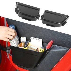 ABS Car Rear Door Net Pocket Storage Box for Jeep Wrangler JK 2011-2017 4Door Interior Accessories