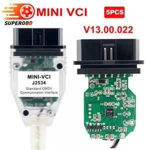 5pcs V13.00.022 MINI VCI FT232RQ  FT232RL V12.00.127 FOR TOYOTA TIS Techstream Single Cable MINI VCI J2534 Diagnostic