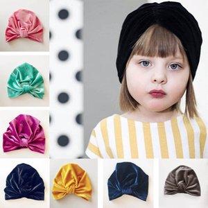 Kinder Jungen Mädchen Hut Neugeborenes Baby Hedging Cap Gold Samt indischen Muslim Hut Bogen feste Kuppel 6