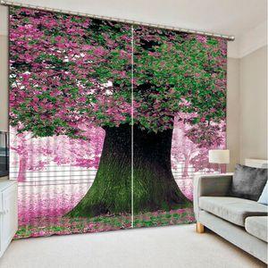 Thousand years old peach Luxury 3D Window Curtain Living Room wedding bedroom
