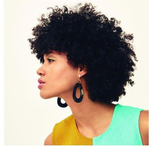 beautiful hairstyle soft Indian Hair afro African American short kinky curly black wig Simulation Human Hair curly wig for lady