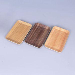 La più nuova esposizione di legno di colore Herb Grinder Salver Handroller Piastra Rolling Storage Tray Design innovativo Strumento di fumare portatile Torta calda DHL