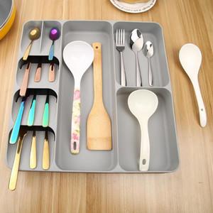 Das Neue Praktische Küchenschublade Zubehör Organizer Löffel Besteck Trennung Finishing-Aufbewahrungsbehälter-Behälter Container Messer Gabeln