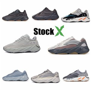 2020 Azael Alvah 700 V3 Mens Designer Shoes Kanye West incandescenza bianca In Dark modo di alta qualità del progettista donne degli uomini addestratori correnti Wit # QA627