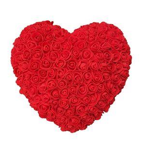 Romantic Rose Artificial Marriage Proposal presentes Decoração DIY Flores do Valentim do 30 centímetros Coração Rose Red