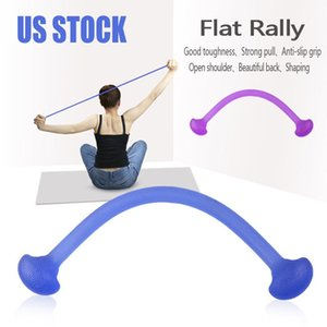 DHL Nave Yoga Rally del silicone forma fisica della cinghia della fascia di stirata di yoga corda Resistenza Rally Belt training Office Home Elastic Fitness Equipment 7052