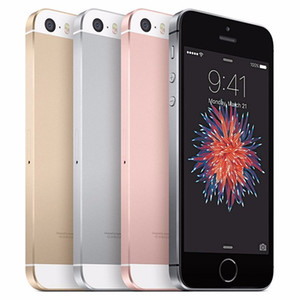 DHL ship Unlocked Refurbished Phone iPhone SE A9 IOS With Touch ID 4.0inch 2GB RAM Dual Core 16GB 64GB 4G LTE Fingerprint Apple Cell Phone