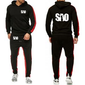 SÃO Sword Art Online Impresso Hoodies Homens Streetwear Casual camisola Harajuku Moda Men Hoodies terno de calças 2pcs