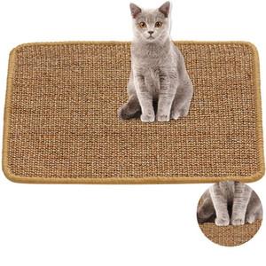Arañazos sisal gato Junta gato Rascador Mat gatito Tree Climbing Tabla estera de la silla Muebles protector del juego del gato Suministros Juguetes