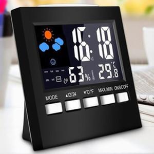 جديد 100٪ العلامة التجارية محطة الطقس المنبه ميزان الحرارة درجة الحرارة اللاسلكية الرطوبة متر