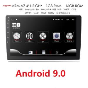 9 / 10,1 polegadas Android 9.0 GPS Navigation Autoradio Car Radio 2Din Universal Multimedia Leitor de DVD Bluetooth WIFI MirrorLink OBD2 dvd carro