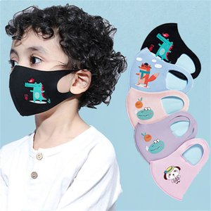 niños cara diseñador de lujo máscara DHL MASCARILLA niños muchachas de los niños de dibujos animados máscara Boca anti-polvo respirable PM 2,5 Earloop desechable