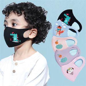 DHL bambini progettista maschera facciale di lusso maschera viso dei ragazzi delle ragazze dei bambini del fumetto Bocca anti-polvere PM2.5 traspirante Earloop monouso maschera