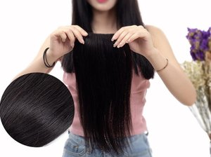Hair Gasket Long Straight Wigs Hair Mat Slice Long Straight On Both Sides of the Thickening of the Invisible Mat Roots Fluffy Head Wig Piece
