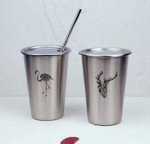 Logo fix INS pop Nordic simple industrial Firebird stainless steel beer cup