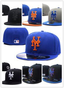 Много цветов мужские приталенные шапки Метс бейсболка с плоскими полями вышитый логотип команды болельщики бейсболка высшего качества полный закрытый кости женские