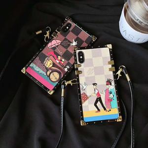 19SS Nouveau cas de téléphone de luxe pour IphoneX / XS XR XSMAX 7P / 8P 7/8 6P / 6sP 6 / 6s Style de la marque Téléphone Case Designer Iphone Case avec longes