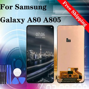 Super Original Para Samsung Galaxy A80 2019 A805 SM-A805FN A805F LCD com toque ScreenFree Grátis 100% testado