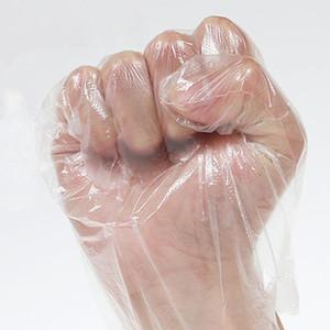 100pcs / Ecolo-gants à usage unique Accueil Cuisine barbecue multifonction Effacer sanitaires Gants en plastique Catering Vaisselle