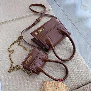 Cuoio Spalla Razaly alta qualità Flap Formato due Solid borse delle donne borse casual Holder Tote