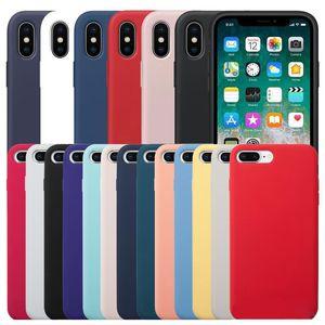Avez-LOGO Liquid Silicone Rubber Téléphone antichocs Housse pour iPhone 11 Pro Max XS XR X 8 7 Plus Avec Retail Box