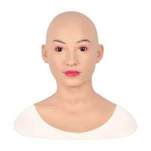 Künstliche Menschliche Haut Gesicht Realistische Silikonbrustformen DWT Transgender Disfigurement Reparatur Silikon-Halloween-Schablonen-Gesichts