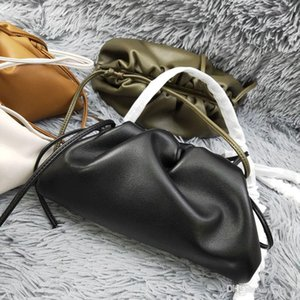 Women bag cloud crossbody Luxury Handbags real leather designer messenger Pleated Dumplings Bag Shoulder Strap Clutch small large Bag 38CM