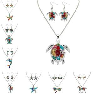 I monili di hip hop per gli orecchini di modo delle donne Earings della collana di animali dello smalto della lega collane donne regalo all'ingrosso orecchino gioielli
