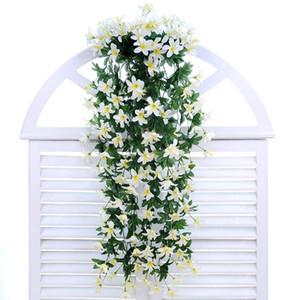 الحرير الزهور الاصطناعية زهرة زنبق فاين الجدار شنقا سلة بلكونة الديكور المنزلي ديكور الزفاف